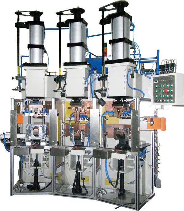 压缩机铜管与壳体三工位中频点焊机
