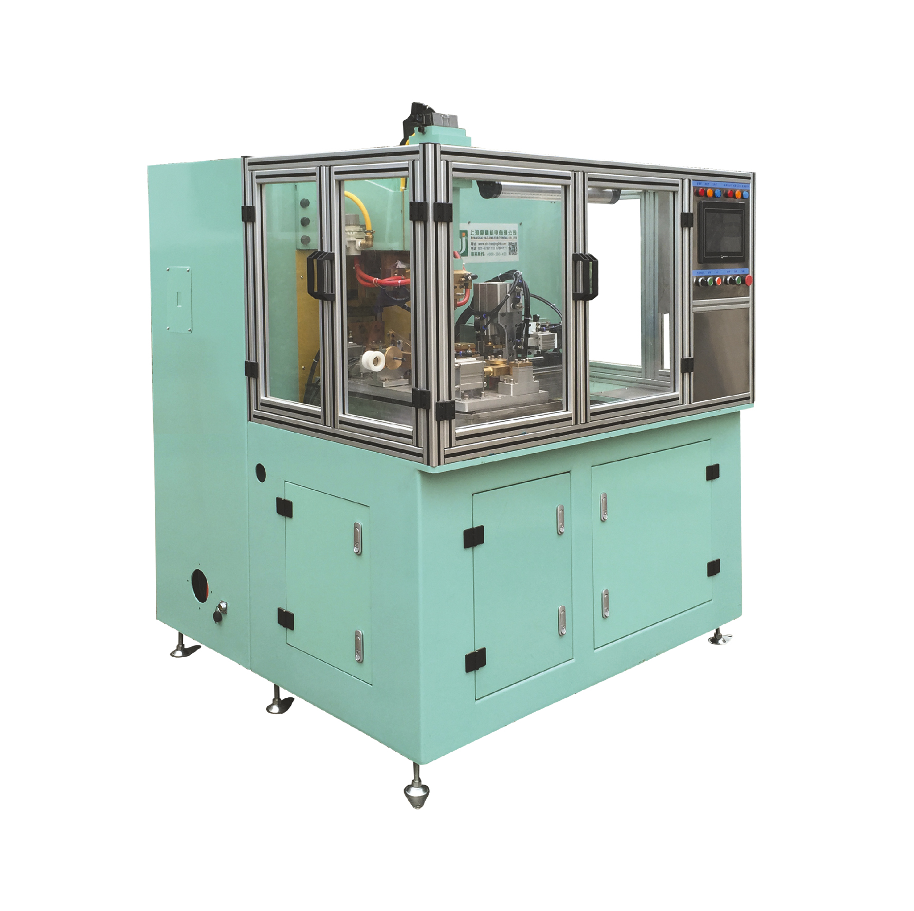 铜编织线成型焊接剪切点焊机专机
