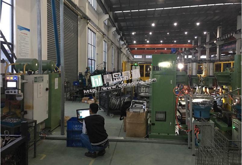 豪精自动化中频点焊机在仓储设备制造企业的应用现场