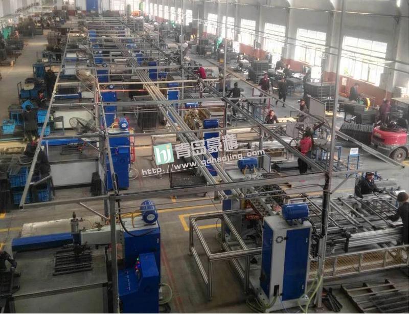 国内最大的宠物笼出口企业点焊现场全场点焊设备定制
